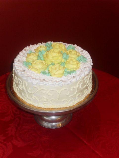 """Tort okazjonalny – """"bukiet róż"""""""