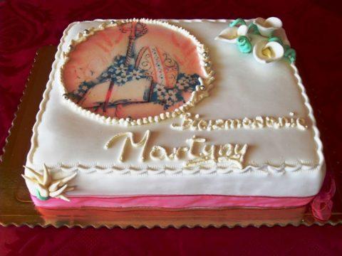 Tort na bierzmowanie w stylu angielskim